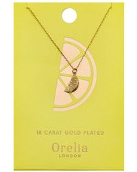 Orelia - Lemon Ditsy Necklace - Lyst