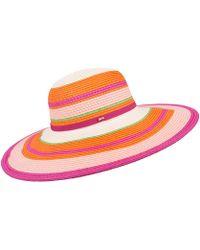 8578c270d8e Ted Baker Inita Pom Pom Hat in Purple - Lyst