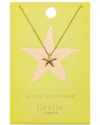 Orelia - Starfish Ditsy Necklace - Lyst