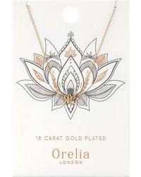 Orelia - Spiritual Lotus Ditsy Necklace - Lyst
