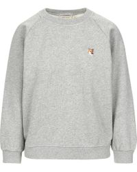 Maison Kitsuné - Fox Head Patch Sweatshirt - Lyst