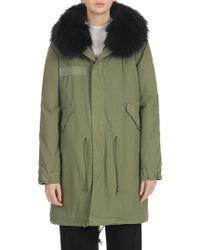 Mr & Mrs Italy - Fur-trim Parka Coat - Lyst