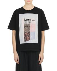 MM6 by Maison Martin Margiela - Mm6 Printed Short Sleeve T-shirt - Lyst