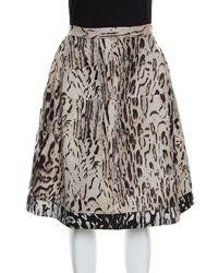 CH by Carolina Herrera - Leopard Pattern Jacquard Skirt S - Lyst