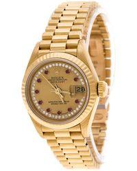 Rolex - Dial 18k Yellow Diamonds 69178 Datejust Women's Wristwatch 26 Mm - Lyst