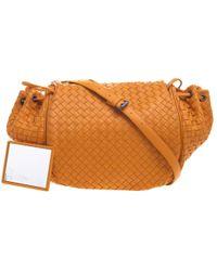 9b96a55756ab Bottega Veneta - Intrecciato Leather Drawstring Crossbody Bag - Lyst
