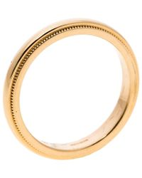Tiffany & Co. - Classic Milgrain 18k Yellow Gold Wedding Band Ring - Lyst