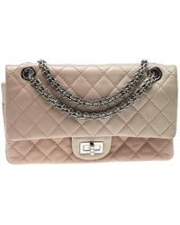b96816ebc2e2ea Chanel - Multicolor Quilted Leather Reissue 2.55 Classic 225 Flap Bag - Lyst