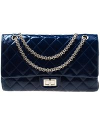 03df96db82d87d Chanel - Quilted Patent Leather Reissue 2.55 Classic 227 Flap Bag - Lyst