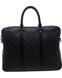 4b3ad5e7e22a Louis Vuitton - Damier Graphite Canvas Porte Documents Voyage Pm Bag - Lyst