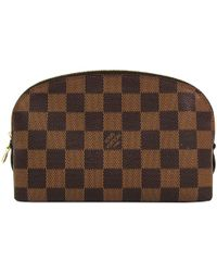 Louis Vuitton - Damier Ebene Canvas Cosmetic Pouch - Lyst