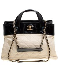 f379e37cafb5 Chanel -  black Quilted Leather In The Mix Shopping Tote - Lyst