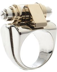 Givenchy - Obsedia Two Tone Metal Bar Ring - Lyst
