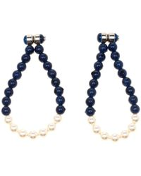c4d09d6bb Givenchy Pavé Crystal Faux Pearl Onyx Magnetic Earrings in Black - Lyst