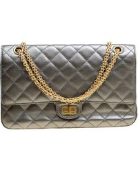 45b10cdeae3287 Chanel - Quilted Leather Reissue 2.55 Classic 226 Flap Bag - Lyst