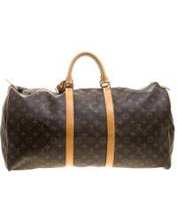 Louis Vuitton - Monogram Canvas Keepall 55 Bag - Lyst