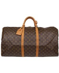 Louis Vuitton - Monogram Canvas Keepall 60 Bag - Lyst