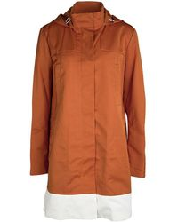 JOSEPH - Orange Techno Taffeta Contrast Trim Hooded Zero Jacket M - Lyst