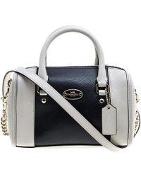 COACH - Off /black Leather Crossbody Bag - Lyst