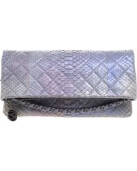 Chanel - Hologram Quilted Python Medallion Foldover Clutch - Lyst