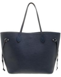 Louis Vuitton - Indigo Epi Leather Neverfull Tote Mm - Lyst
