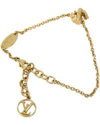 Louis Vuitton Lv & Me Gold Tone S Soft Bracelet - Metallic