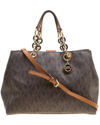 Michael Kors - Michael Signature Coated Canvas Cynthia Tote - Lyst