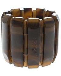 Lanvin - Plastic Polyester Elastic Wide Cuff Bracelet - Lyst