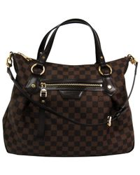 Louis Vuitton - Damier Ebene Canvas Evora Mm Bag - Lyst