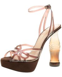 Charlotte Olympia - Jelly Soda Cola Heel Ankle Wrap Platform Sandals - Lyst