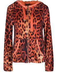 Roberto Cavalli - Gym Leopard Print Hooded Zip Front Sweatshirt M - Lyst