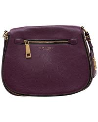 Marc Jacobs - Purple Leather And Canvas Recruit Nomad Saddle Shoulder Bag - Lyst