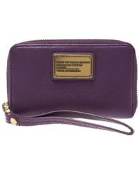 Marc By Marc Jacobs - Leather Classic Q Zip Around Wallet - Lyst