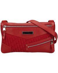 fd46e5bb9c3b Dior - Jacquard Canvas And Leather Oblique Crossbody Bag - Lyst