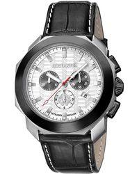 Roberto Cavalli - Stainless Steel Rv1g044l0031 Men's Wristwatch 44mm - Lyst