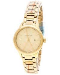 Burberry - Plated Stainless Steel Classic Bu10109 Women's Wristwatch 32 Mm - Lyst