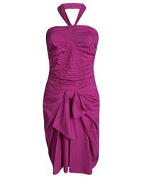 Dior - Cotton Ruched Bow Detail Halter Dress S - Lyst