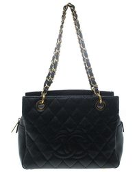Chanel - Quilted Caviar Leather Petite Timeless Shopper Tote - Lyst