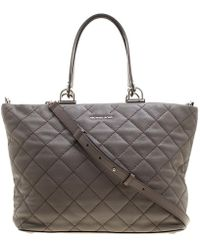Michael Kors - Quilted Leather Large Loni Zip Tote - Lyst e8f930c192
