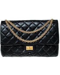 Chanel - Black Quilted Leather Reissue 2.55 Classic 226 Flap Bag - Lyst