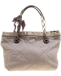 Lanvin - Leather Amalia Cabas Tote - Lyst