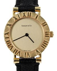 Tiffany & Co. - Gold Dial 18k Yellow Gold Atlas L0630 Women's Wristwatch 24 Mm - Lyst