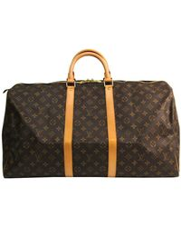 Louis Vuitton Monogram Canvas Keepall 55 Bag - Brown