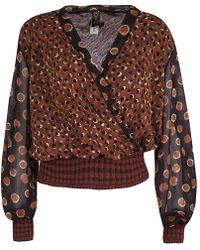 Jean Paul Gaultier - Dotted Knit Trim Long Sleeve Top Xl - Lyst