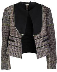 Céline - Wool Zip Detail Crop Jacket M - Lyst
