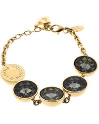 Louis Vuitton - Over The Rainbow Crystal Gold Tone Bracelet - Lyst