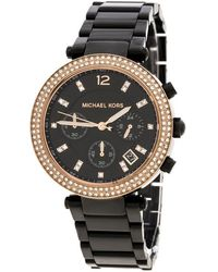 Michael Kors - Stainless Steel And Rose Gold Plated Steel Parker Mk5885 Women's Wristwatch 39 Mm - Lyst
