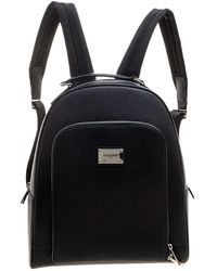 Balmain - Pebbled Leather Backpack - Lyst