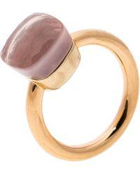 Pomellato - Nudo Pink Quartz 18k Rose Gold Ring Size 50 - Lyst