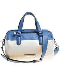 Marc By Marc Jacobs - /white Leather Luna Satchel - Lyst